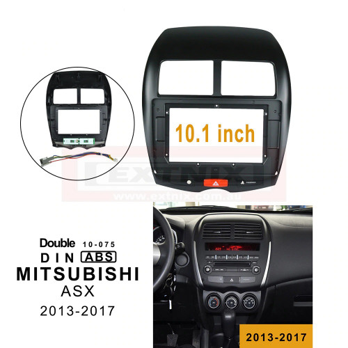 EXTNIX - Car Fascia Dash Kit Installation Facia Panel Emergency light dvd Frame for MITSUBISHI ASX 2013-2017 2DIN 10.1 Inch Radio Player