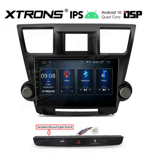 EXTNIX - 10.1 inch Toyota Kluger IPS Screen Navigation Multimedia Player with Built-in DSP Supports Grande JBL