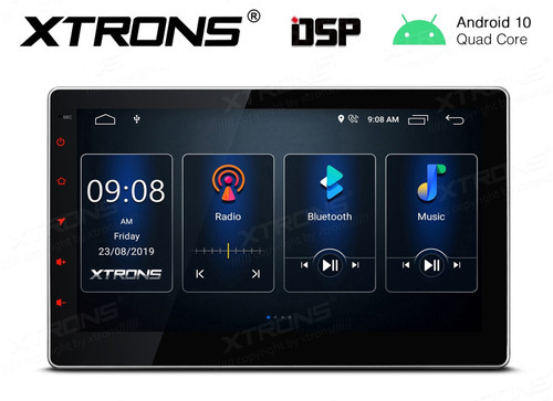 "Xtrons  Android 10 HD 10.1"" Touch Screen GPS DSP Bluetooth USB WiFi Infotainment System TSD100L"