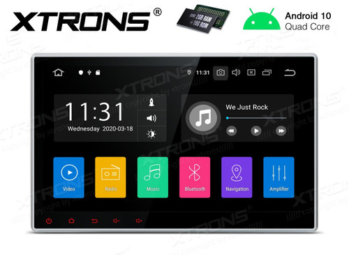 "Xtrons  Android 10 HD 10.1"" Touch Screen GPS DSP Bluetooth USB WiFi Infotainment System DA100L"
