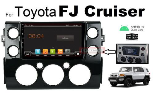 "EXTNIX Toyota FJ Cruiser Android 10 Multimedia Infotainment System Upgrade  GPS 9"" HD IPS 2.5D Touch Screen Bluetooth Black"
