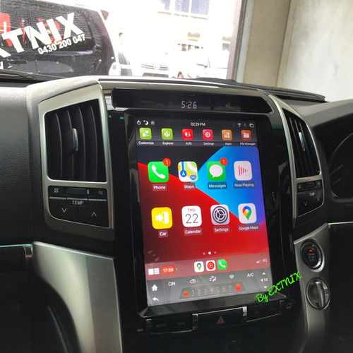 """EXTNIX Toyota Landcruiser 200 Series Tesla Style 12.1"""" Infotainment System with built-in Apple CarPlay Android Auto LC200"""