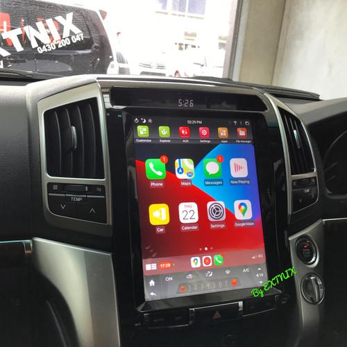 EXTNIX Toyota Landcruiser 200 Series Tesla Style Infotainment System Apple CarPlay Android Auto