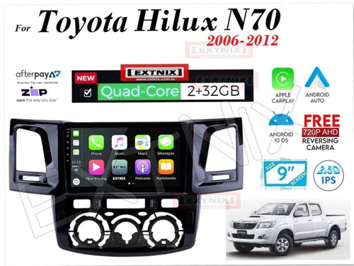 EXTNIX Toyota Hilux 2005 to 2012 N70 APPLE® CARPLAY AND ANDROID® AUTO Infotainment System Upgrade