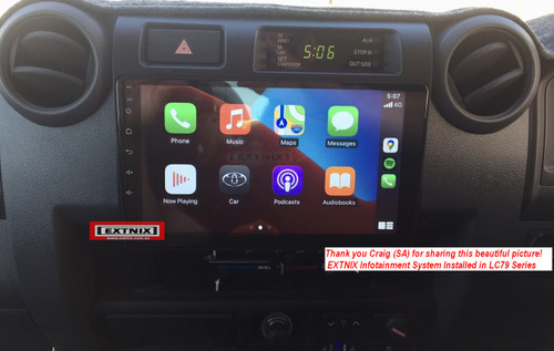 EXTNIX Premium Wireless Apple CarPlay Android Auto Toyota Landcruiser 70 Series 2009-2020 LC79 PX5 Infotainment System