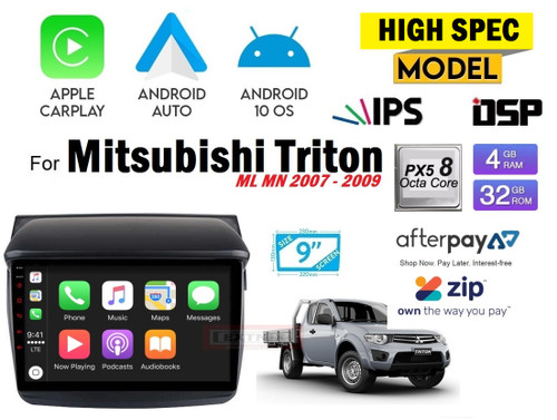 EXTNIX Premium High Performance Apple Carplay Android Auto Mitsubishi Triton ML MN Infotainment System