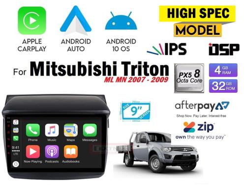 EXTNIX Premium High Performance Apple Carplay Android Auto Mitsubishi Triton ML MN Infotainment System