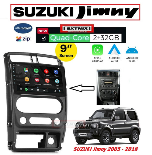 EXTNIX Apple Carplay Android Auto Suzuki Jimny JX Sierra Infotainment System