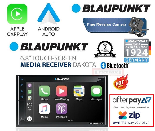 "Blaupunkt BP800PLAY Dakota 6.8"" Apple Carplay Android Auto FM Bluetooth Receiver Mechless Multimedia System"