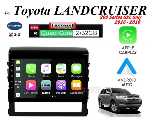 "EXTNIX 9"" Apple Carplay Android Auto Toyota Landcruiser 200 Series 2016 to 2018 LC200 GXL Infotainment System"