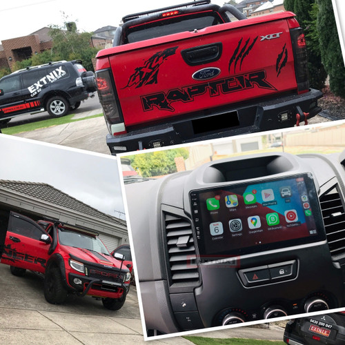 """EXTNIX Premium Wireless Carplay Ford Ranger PX 2012 - 2015  HD 9"""" Touch Screen IPS 2.5D Android 10 Bluetooth GPS USB Infotainment SYSTEM With Reverse Camera"""