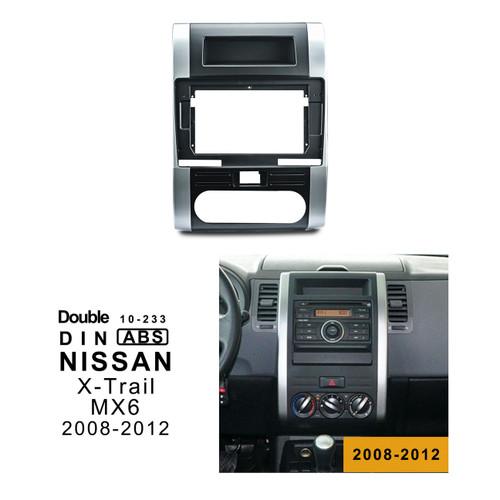 EXTNIX NISSAN X-TRAIL 2008-2012 Car Radio In-Dash Mounting Frame Radio Installation Fascia for with 10.1 inch Screen Car Stereo