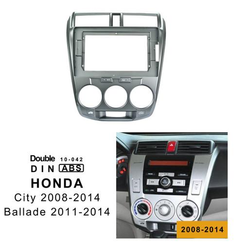 EXTNIX HONDA CITY (Manual AC) 2008-2014 Car Radio In-Dash Mounting Frame Radio Installation Fascia for 10.1 inch Screen Car Stereo