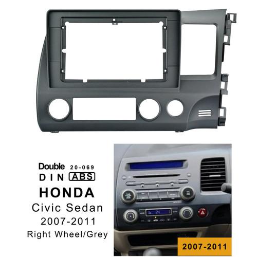EXTNIX Honda Civic (RW) 2007-2011 In-Dash Mounting Frame car head unit Radio Installation fascia Facia for 10.1 inch car stereo