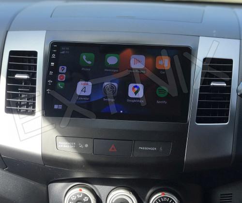 EXTNIX Mitsubishi Outlander 2007-2012 ZG ZH Apple CarPlay Android Auto Infotainment System Rockford Compatible