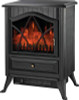 PowerZone Electric Fireplace Heater, 120 V, 12.5 A, 750 - 1500 W, 160 Sq-Ft, Black