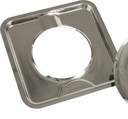Camco 00373 Gas Drip Pan, For Use With Square Burners, 7-3/4 in L, Chrome Plated