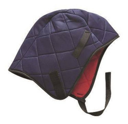Safety Hat Liner Blue Quilted