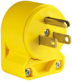 Cooper 4867AN-BOX Grounded Angled Electrical Plug