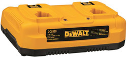 Dewalt DC9320 3-Stage Battery Charger, Li-Ion/Ni-Cd/Ni-MH, 1 hr, 3 Battery