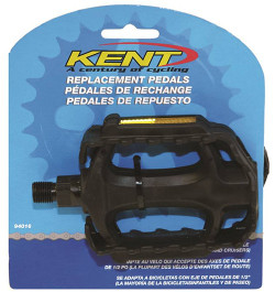 Kent 94016 Replacement Standard Pedal, For Use With Child and Adult Bicycles, 1/2 in Axle, Solid Steel Spindle