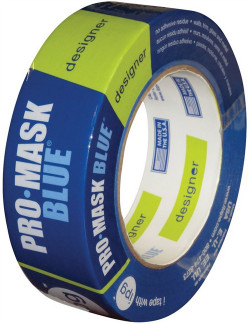 Intertape ProMask Masking Tape, 1.41 in W x 60 yd L, Crepe Paper? Backing, Blue