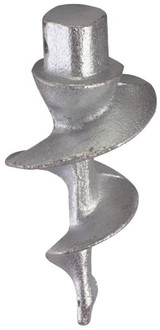 PlayStar Commercial Grade Dock Auger, Cast Iron, Stainless Steel Nut and Bolt, Galvanized