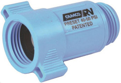 Camco 40143 Water Pressure Regulator, 40 - 50 psi, 3/4 in Inlet, 1 in Outlet, ABS Plastic