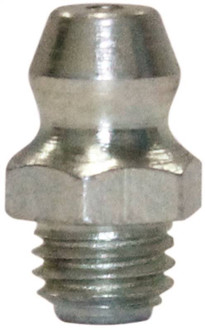 Lubrimatic 11-101 Standard Straight Short Grease Fitting, 1/4-28
