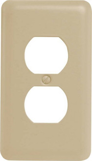 Wall Plate 1g Recpt Stl Almond