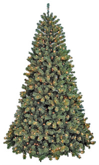 Santas Forest Pre-Lit Christmas Tree, 7 Ft H, Clear