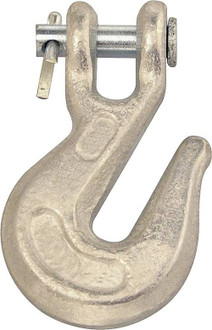 Cambell T9501624 Clevis Grab Hook, 3/8 in, 5400 lb, Forged Steel, Zinc Plated