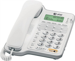 Vtech AT2909/CL2909 Corded Speakerphone, 65 Name Input, Digital Display, Gray/White