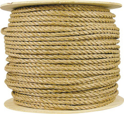Wellington 14188 Twisted Rope, 3/8 in Dia x 600 ft L, 173 lb, Polypropylene, Brown