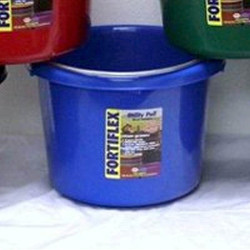 FORTEX-FORTIFLEX 1304840 Utility Pail, Fortalloy Rubber HDPE, Blue