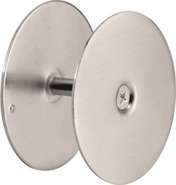 Prime-Line U 10446 Hole Cover Plate, For Use With 1-3/4 in Thick Doors, 2-5/8 in Dia, Steel, Chrome