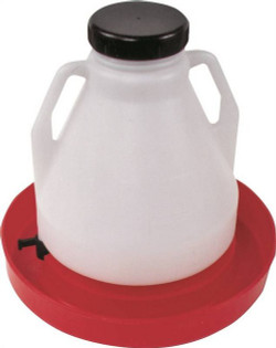 Brower 4GF Top Fill Poultry Fountain, 4 gal Capacity, 16-1/2 in Dia X 2-3/8 in W X 16 in H, Poly