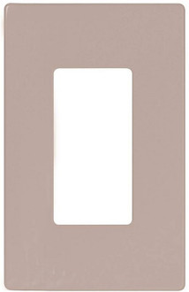 Arrow Hart PJS26 Decorative Screwless Wall Plate, 1 Gang, 4-1/2 in L x 2-3/4 in W x 0.08 in T, White