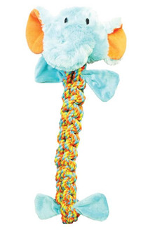 Boss Pet WB15634-L Braided Large Rope Elephant Dog Toy, 22 in L