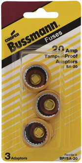 Bussman BP/SA-20 Fuse Adapter, 20 A, For S-20 Fuse