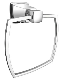 Moen Towel Ring, 5.13 in L x 6.1 in H, Wall Mount, Zinc, Chrome