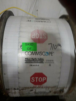 Commscope Yellow #6 Fiber Optic Cable Reel; FOCR 5000'