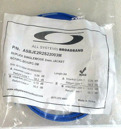 All Systems Blue Duplex SM 2mmJacket, sc/upc-sc/upc-3m; Part ASBJE2R2S2203M