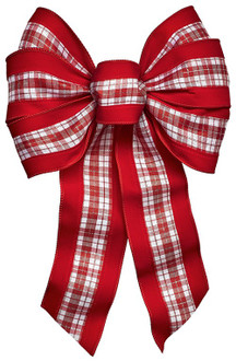 Holidaytrims 6143 Bow Plaid, Christmas Wired