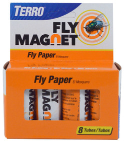 TERRO Fly Magnet T518 Fly Paper Trap, Solid, 8 Package, Pack