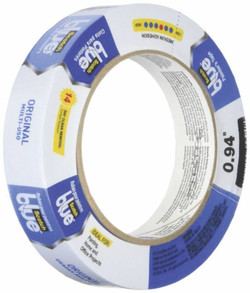 ScotchBlue 2090-24EVP Painter's Tape, 60 yd L, 0.94 in W, Crepe Paper Backing, Blue, 6, Roll