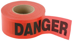 CH Hanson 16003 Barricade Safety Tape, 1000 ft L, 3 in W, Red, Polyethylene