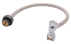 RELIANCE WORLDWIDE 24657Z Faucet Connector, Flexible, 1/2 in Inlet, 1/2 in Outlet, Stainless Steel Tubing, 20 in L