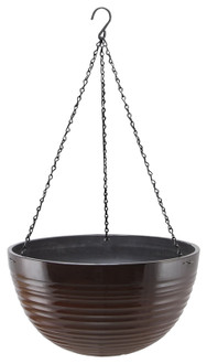 Landscapers Select PT-S075 Planter, 15.75 in Dia, Round, Resin, Red, Red Wave