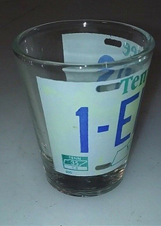 1-Elvis License Plate Shot Glass